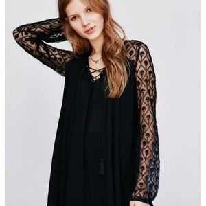 Urban Outfitters Ecote Aura Embroidered Lace Dress